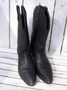 Womens Nice Black Leather Western Cowgirl Boots Size 8M