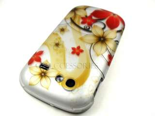 GOOGLE NEXUS S 4G SPRINT GOLD RED FLOWERS COVER CASE