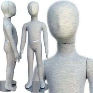 Pinable & Bendable Child Mannequin with Head 3 4 Arts