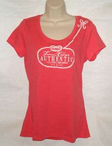 Tommy Hilfiger Womens T shirt Graphic Tee Red M New