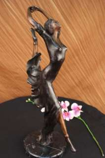 Signed J.ERTE Ballerina Dancer Bronze Statue Sculpture Art Nouveau