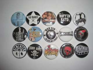 PSYCHOBILLY Buttons Pins Badges BANANE METLIK MAD SIN TIGER ARMY