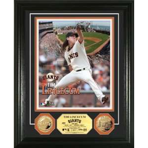 San Francisco Giants Tim Lincecum Gold Coin Photo Mint