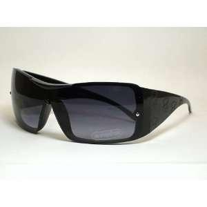 K6419ts Teddy Bear Children Sunglasses Black Frame Smoke