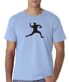 Mens Baseball Pitcher Bat Ball Pitching Sports T Shirt Tee