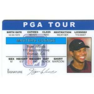 Tiger Woods Golf Pro Collectors Card