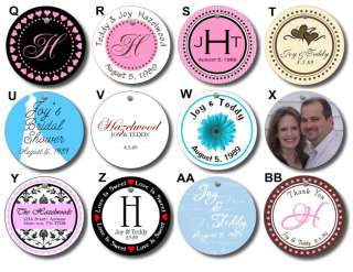 20 Round Wedding Bridal Shower Favor Gift Hang Tags A