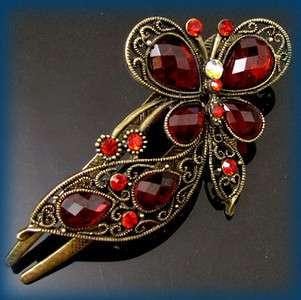 ADDL Item  antiqued crystal rhinestone butterfly hair
