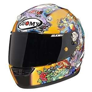 SUOMY VANDAL TATTOO GOLD MOTORCYCLE HELMET XS Automotive