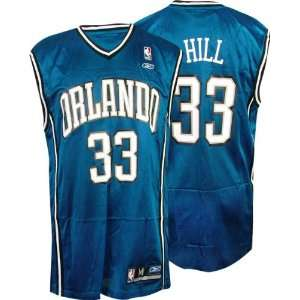 Grant Hill Blue Reebok NBA Replica Orlando Magic Jersey: