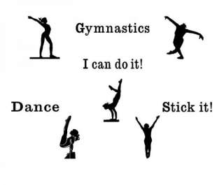 Gymnastics Vinyl Wall Decals Decor Letters Children Art Stickers