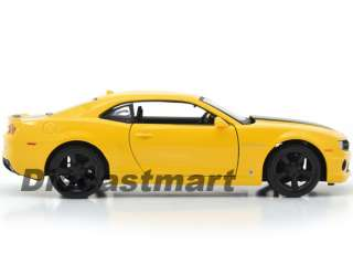 24 2010 CHEVROLET CAMARO SS RS NEW DIECAST MODEL CAR BUMBLE BEE YELLOW