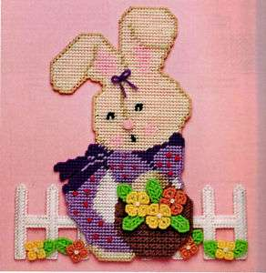 Easter Bunny Eggs Wall Hang Plastic Canvas Pattern Book