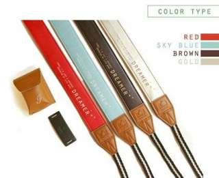 ICONIC Dreamer Camera Neck & Shoulder Strap Colors Red / Sky Blue