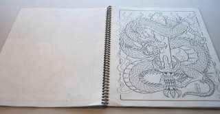 DRAGON TATTOO FLASH JAPANESE STYLE ART SKETCH BOOK .