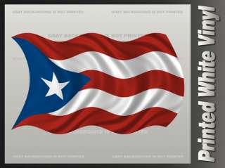 Puerto Rico WAVY Flag Sticker PRI Vinyl Bumper Window Decal F2