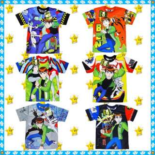 BEN 10 ALIEN FORCE T shirt age 4 10 years toys Boys Top Kids Party
