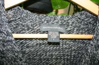 BANANA REPUBLIC Heather Gray Silk V Neck Sweater S