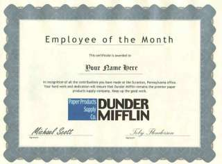 Dunder Mifflin Employee of the Month   The Office