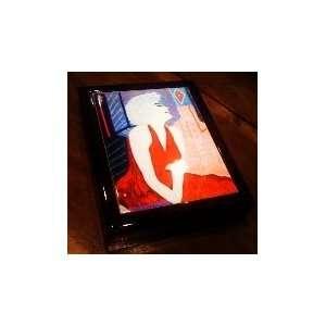 Marilyn Monroe Black Lacquer Keepsake Box by Tony Curtis