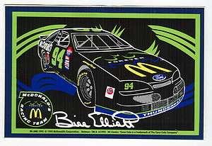 BILL ELLIOTT #94 McDONALDS BATMAN FOREVER FORD NASCAR RACING DECAL