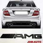 3D AMG Matts Black Sticker Emblem Mercedes Benz JDM Auto Trunk SLK OE