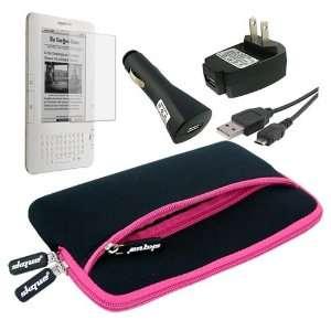 Skque Hot Pink Glove Sleeve Bag + 6 Screen Protector