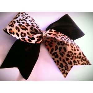 Leopard Metallic and Black Metallic with Gold Glitter Center   3 Inch