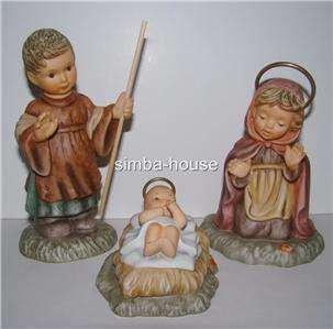 BERTA HUMMEL NATIVITY SET   JOSEPH, MARY, BABY JESUS 3pc Set