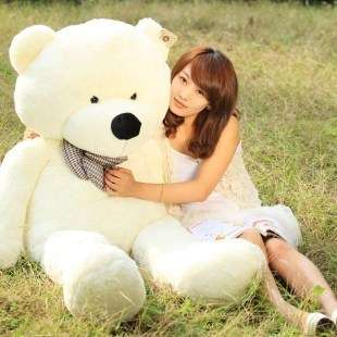 HOT 63 Giant Big plush teddy bear White 160CM Birthday gift