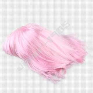 Ladies Pink BOB Short Straight Wig Hair Cosplay Party