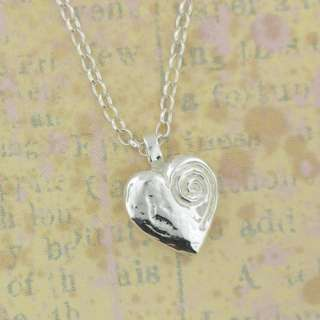 Sterling Silver IRISH MADE LOVE POEM HEART PENDANT