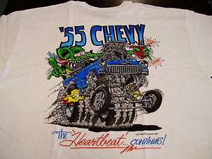 BIG DADDY ROTH RAT FINK HOT ROD RAT ROD 55 CHEVY ROCKABILLY T SHIRT