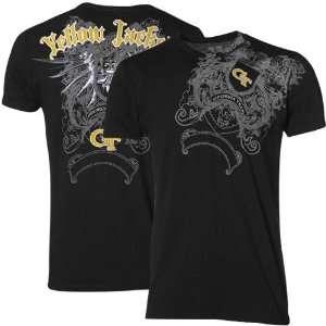 My U Georgia Tech Yellow Jackets Black Razor Wing T shirt