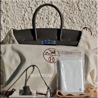 Graphite & Palladium 35cm HERMES BIRKIN BAG