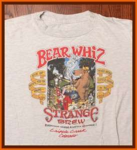 Bearwhiz Strange Brew Cripple Creek CO Beer Brewery T Shirt XL