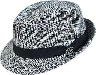 DORFMAN PACIFIC~BLACK/WHITE WOOL DRESS HAT~L/XL