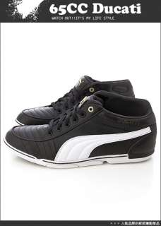 BN PUMA 65CC Ducati Black Shoes Black White Dark Shadow #P117