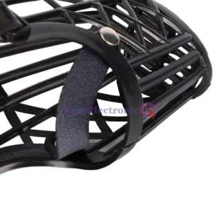 Leather Basket Cage Adjustable Pet Dog Muzzle Black Size 5