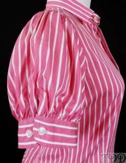 NWT $125 Ralph Lauren Womens Pink Slim Blouse Shirt New