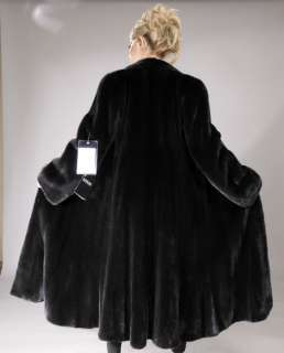 BLACKGLAMA black new Full Length Let out Mink Fur coat ALL SIZES S M L