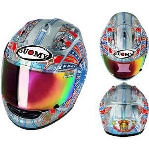 Suomy Extreme Ben Bostrom Motorcycle Helmet   Silver