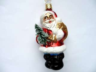 GLAS SANTA CLAUS GERMAN BLOWN GLASS CHRISTMAS TREE ORNAMENT