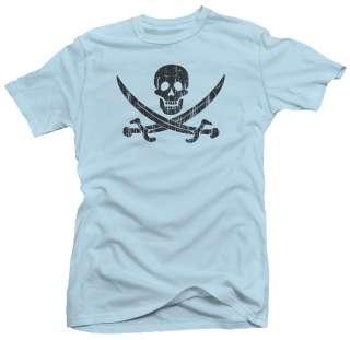 Jolly Roger Skull Pirate Flag Symbol New Retro T shirt
