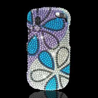 Hotshot 8992 FULL CS DIAMOND Hard Case Flower Blue Purple Silver New