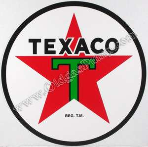 TEXACO T STAR 6 VINYL GAS & OIL PUMP DECAL DC 120B