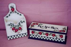 DECORATIVE PAINTING Desgns Recipe Box Bill Box PATTERN