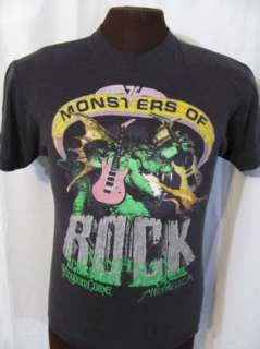 vtg VAN HALEN MONSTERS OF ROCK TOUR 1988 80s t shirt M
