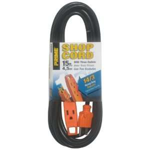 Prime Wire & Cable EC890715 15 Foot 14/3 SJT 3 Outlet Indoor Shop and