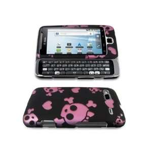 PINK SKULL DESIGN CASE COVER + LCD SCREEN PROTECTOR for TMOBILE HTC G2